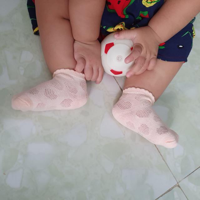 Đánh giá sản phẩm  SET 5 đôi vớ lưới hình tim cho bé của lengochan1807
