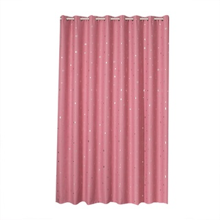 Polyester Window Curtain Shade Blackout Panels Drapes with Perforation