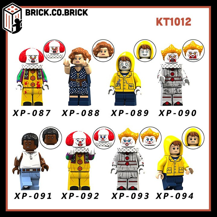 KT 1012 (CÓ SẴN) – Nhân vật chú hề trong phim IT – Đồ chơi lắp ráp minifigure non lego mô hình.