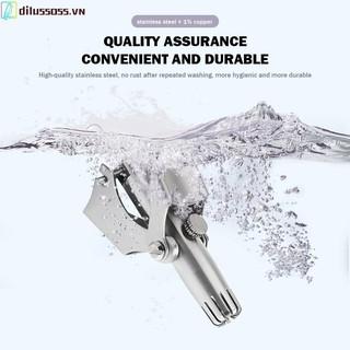 Dụng cụ tỉa lông mũi Dilusss thiết kế cầm tay bằng thép không gỉ chất lượng cao thumbnail