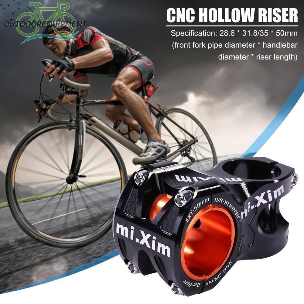 ♧Aluminum Alloy CNC Cycling Mountain Bicycle Short Handlebar Hollow Stem Riser♧