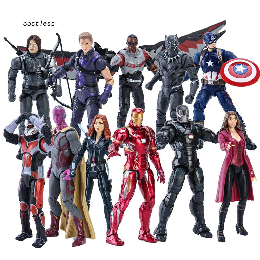 CT♥17cm Movable Captain America Thanos Avengers Model Statue Action Figure Toy Gift