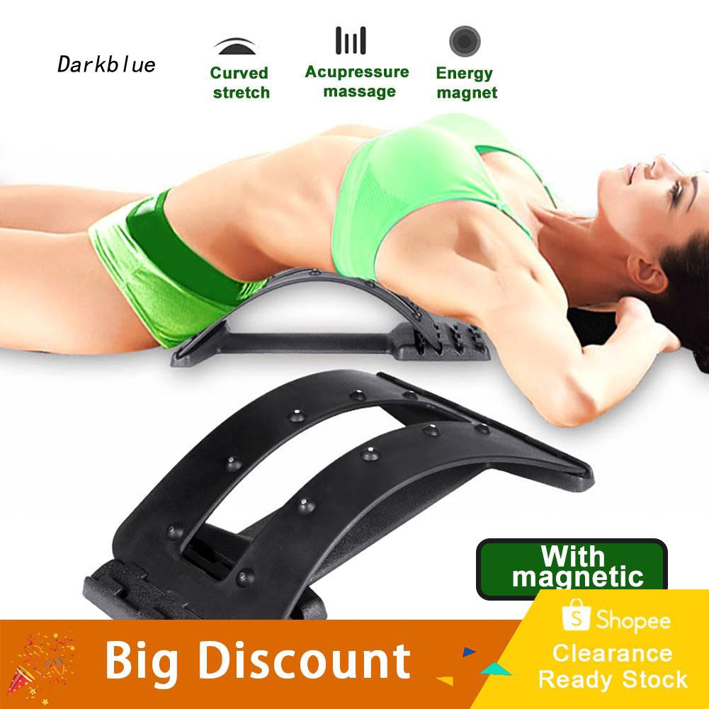 DKBL_Back Massager Stretch Relax Stretcher Lumbar Support Spine Pain Relief Equipment