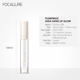 Hình ảnh FOCALLURE PLUMPMAX High Shine & Shimmer Lip Gloss 10 màu 3g 1pc-6