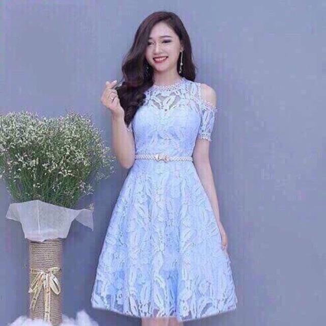 Đầm xoè ren big size