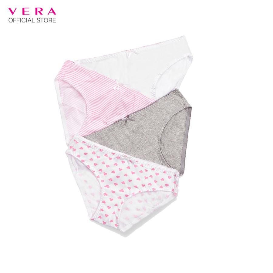Combo 04 quần lót nữ cotton cạp cao họa tiết 8398