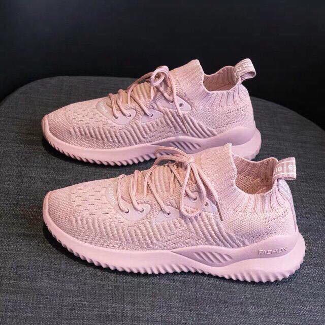 [Fullbox] Giày thể thao chun màu hồng thời trang nữ hàng QCCC siê