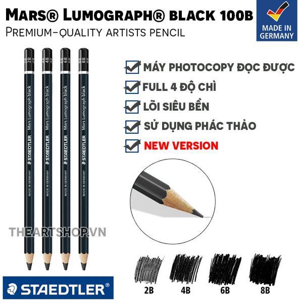 Chì phác thảo STAEDTLER Mars® Lumograph® black 100B