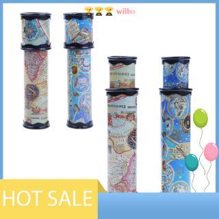 [willss] 20/30cm Rotating Kaleidoscopes Colorful World Preschool Toys Kid Children WT7n
