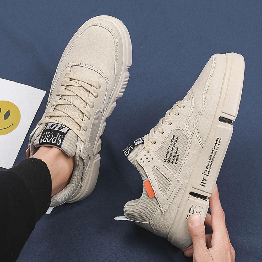 giày thể thao nam màu kem cực đẹp sang trọng 020