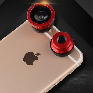 Ống kính mắt cá góc rộng và macro 3 trong 1 dành cho iPhone Samsung thumbnail