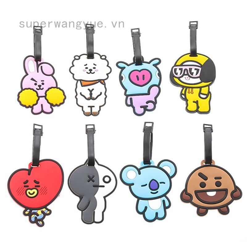Thẻ đeo hành lý in hình hoạt hình phong cách nhóm BTS