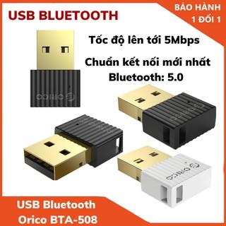 USB Bluetooth 5.0 tốc độ 5Mbps Orico BTA-508 – Hàng Chính Hãng Bảo Hành 12 Tháng