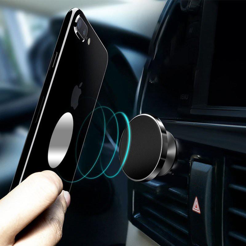 Giá đỡ điện thoại di động trên ô tô xoay từ tính, Giá đỡ từ tính xoay 360 độ chính hảng Borofone