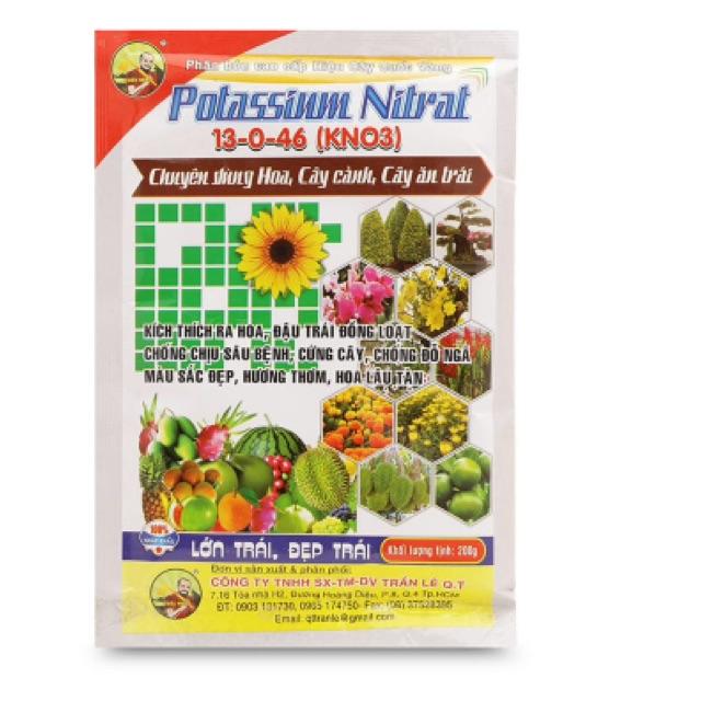 Phân bón Potassium Nitrat Cây Cuốc Vàng 13-0-46 KNO3 200g