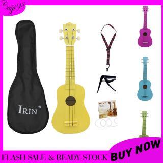 21inch Ukulele Basswood Acoustic Ukelele+Bag+Strap+String+Capo Hawaii Guitar Musical Instrument Kit for Beginner