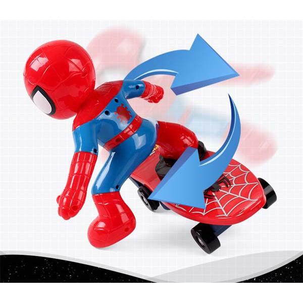 [RẺ NHẤT HÀ NỘI] Đồ chơi người nhện trượt ván cho bé - SIÊU BỀN
