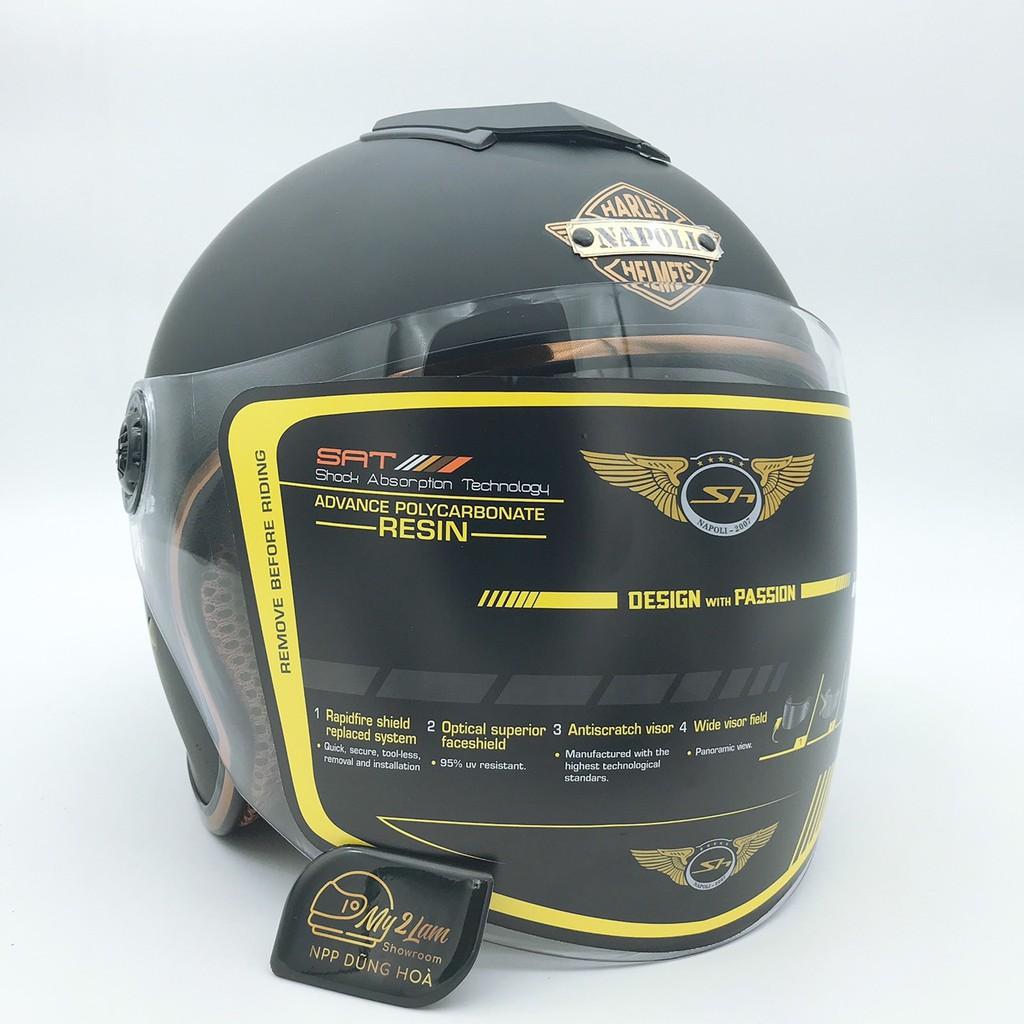 Mũ bảo hiểm 3/4 loại 2 kính Napoli N125 (tặng kèm túi đựng)