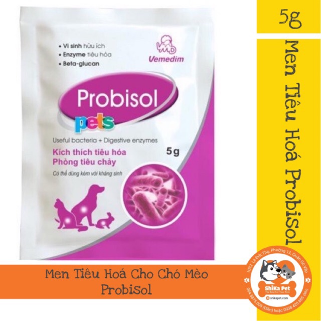 Probisol Men Tiêu Hoá Cho Chó Mèo 5G
