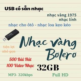 USB 32GB 3.0 Kingtons có sẵn Nhạc Vàng – Bolero – Trữ Tình cho oto