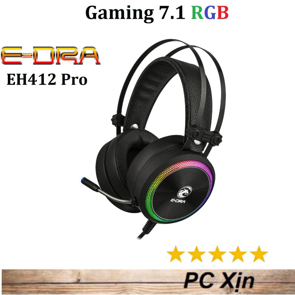 Tai nghe Gaming E-Dra EH412 Pro LED RGB - Giả lập âm thanh vòm 7.1 Chính Hãng