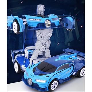 Đồ chơi ô tô biến hình thành robot transformers