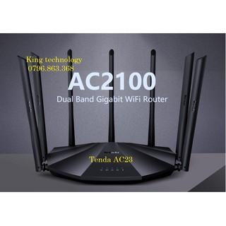 Bộ Phát Wifi Tenda AC23 AC11 AC10 AC7 AC6 AC5s AC5 7 Ăng Ten 6dbi - Chuẩn AC1200 (Hàng Nhập Khẩu)