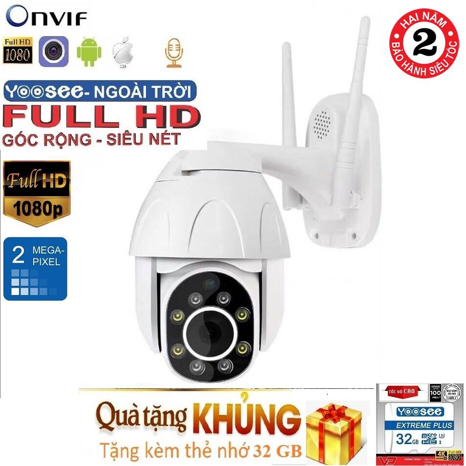 Camera Wifi Ngoài trời Yoosee Full HD 1080P PTZ - Quay 360 độ, chống nước, có màu ban đêm