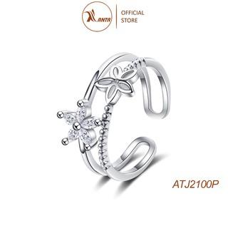 Nhẫn nữ thời trang thiết kế hoa 5 cánh đính đá phong cách Hàn Quốc ANTA Jewelry - ATJ2100P thumbnail