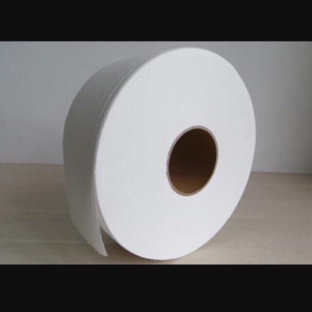 Giấy vệ sinh cuộn lớn, cuộn to nặng 700 g - giấy cuộn công nghiệp, 2 lớp sang xịn mịn