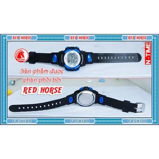 Đồng hồ điện tử trẻ em bé trai, bé gái NT-89F (Xanh)