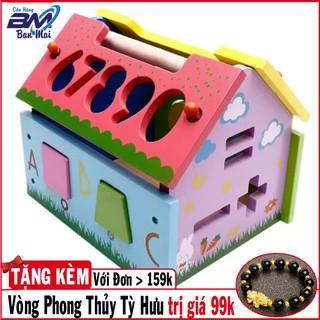 [Chất Lượng]Trò chơi thả hình vào nhà gỗ tích hợp học số cho bé yêu