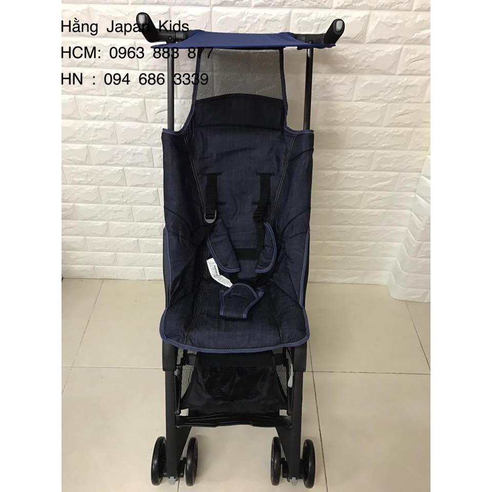 Pockit - Xe đẩy siêu gọn màu xanh jean