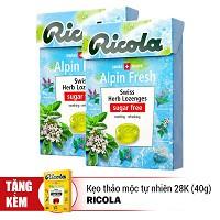 ombo 2 Kẹo Thảo Mộc Alpin Fresh Ricola F122671 (40g / Hộp) - Tặng Kẹo Thảo Mộc Tự Nhiên Original Ric - 2498681 , 716265473 , 322_716265473 , 120000 , ombo-2-Keo-Thao-Moc-Alpin-Fresh-Ricola-F122671-40g--Hop-Tang-Keo-Thao-Moc-Tu-Nhien-Original-Ric-322_716265473 , shopee.vn , ombo 2 Kẹo Thảo Mộc Alpin Fresh Ricola F122671 (40g / Hộp) - Tặng Kẹo Thảo Mộc