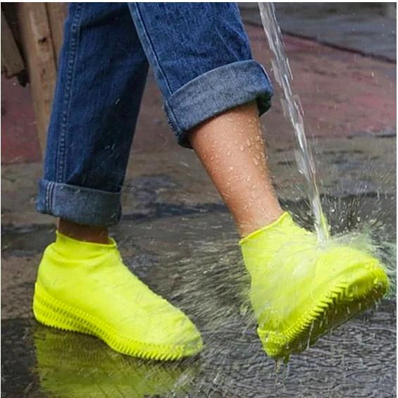 Bọc giày đi mưa silicon co giãn cao cấp, gọn nhẹ chống trơn trượt - 3 màu ( Đen, trắng, xanh dương )