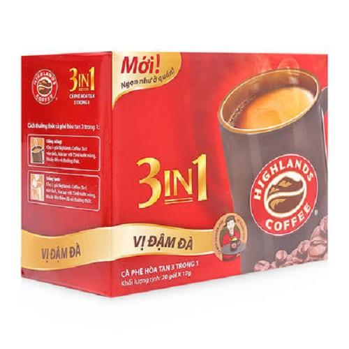 Cà phê hòa tan 3 trong 1 Highlands Coffee hộp 340g