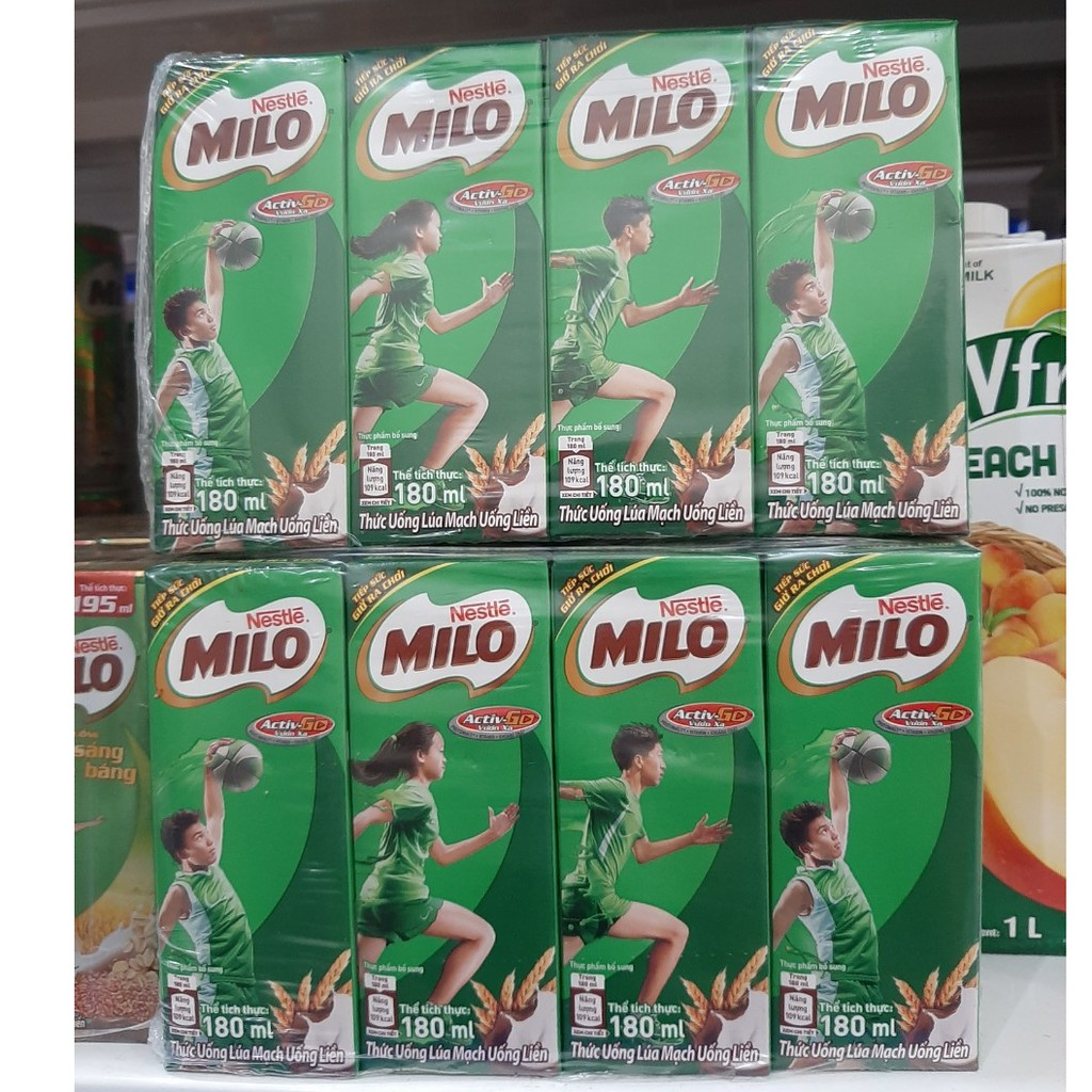Lốc sữa dinh dưỡng Milo 180ml