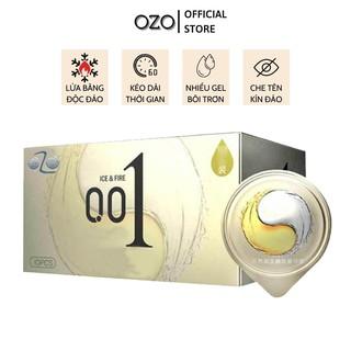 Bao cao su OZO 0.01 Ice & Fire mỏng, nhiều gel bôi trơn, cảm giác lửa băng mới lạ - Hộp 10 bcs-olo store thumbnail