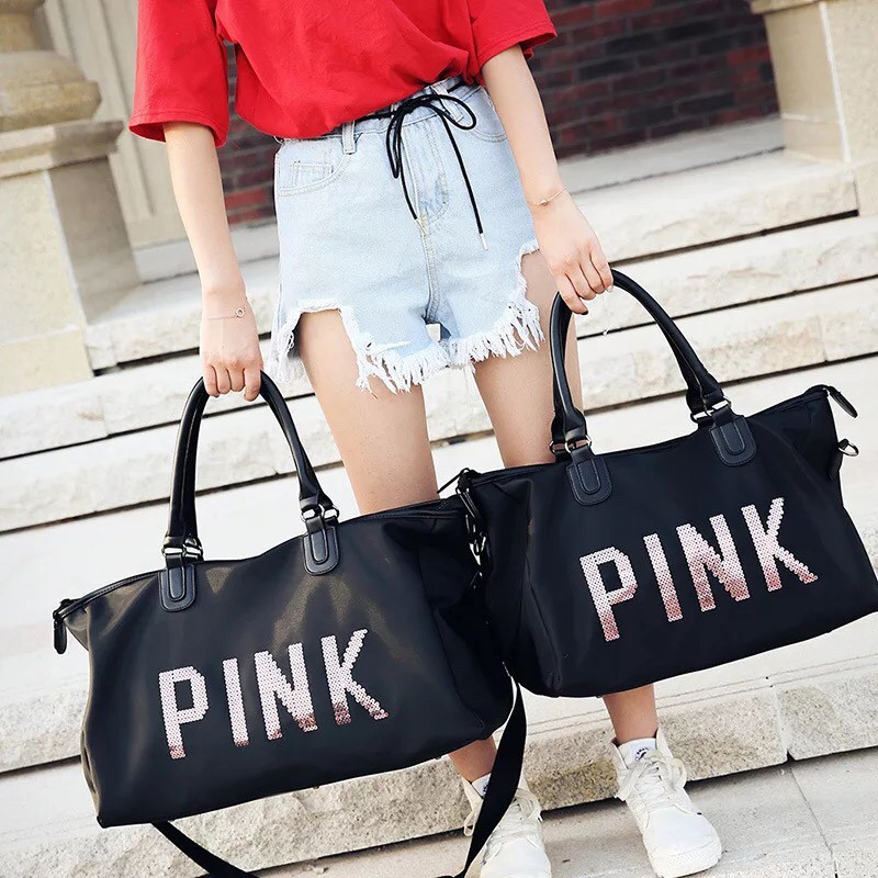 Túi xách du lịch Quảng Châu PINK size cực đại A027 ERIK