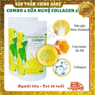 Combo 2 Hộp Sữa Nghệ Hera Collagen 500g thumbnail