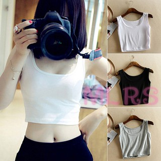 MS Women Solid Color Vest Slim Sleeveless Casual Summer Tank Top for Daily Wear &VN