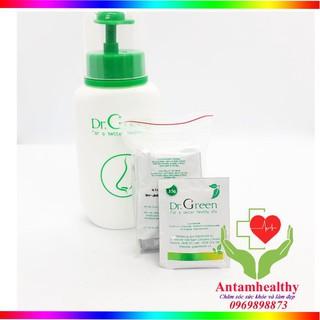 Bình rửa mũi Dr Green và 10 gói muối rửa mũi - Dụng cụ vệ sinh mũi cho bé thumbnail