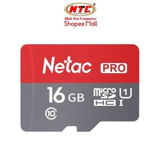 Thẻ nhớ microSDHC Netac Pro 16GB U1 2K 90MB/s - Không Box (Đỏ)