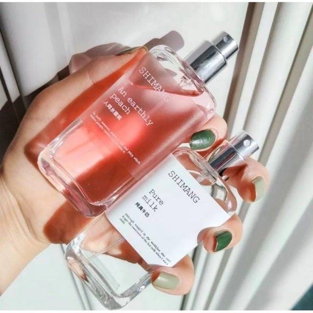 Nước hoa bodymist shimang xịt thơm toàn thân giữ mùi thơm lâu nước hoa nội địa trung