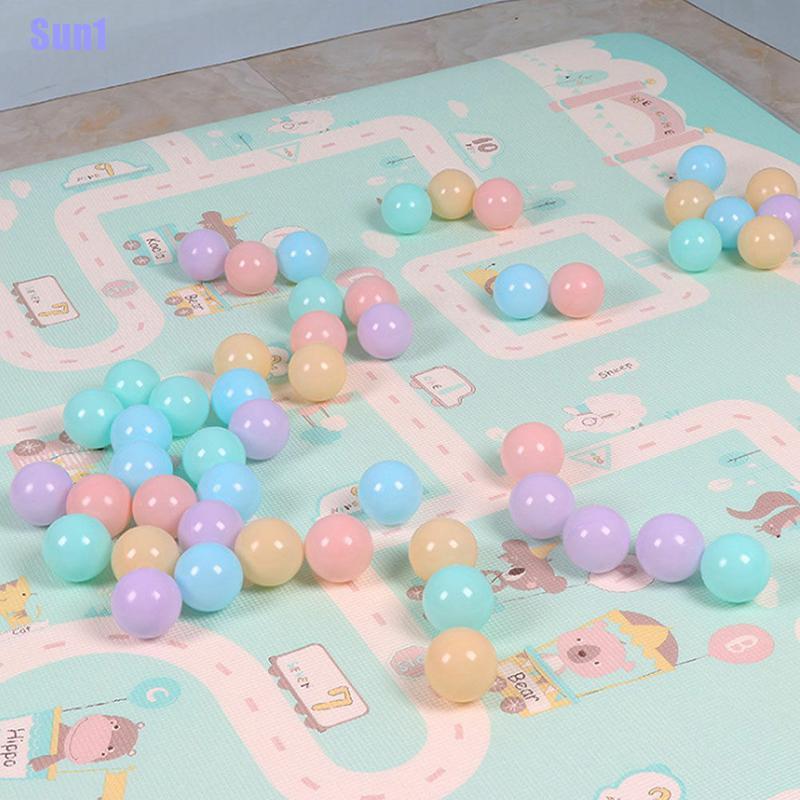 Sun1> Funny 100/200 Colorful Ball Soft Plastic Ocean Ball Baby Kids Swim Pit Pool Toys