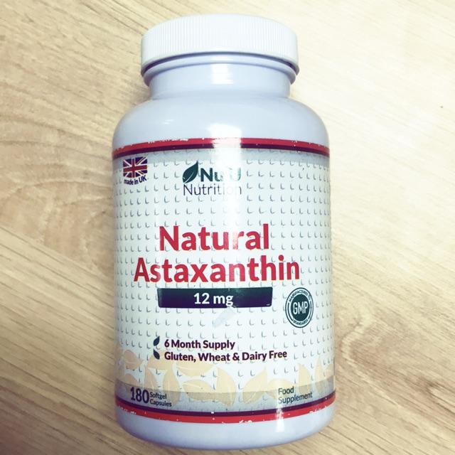 Natural Astaxanthin 12mg 180v tặng Omega3 hoặc vitamin D3