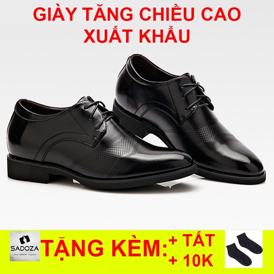 Giày Tăng Chiều Cao Nam - FREESHIP - Giày Tây Nam Tôn Dáng Siêu Bền GD46