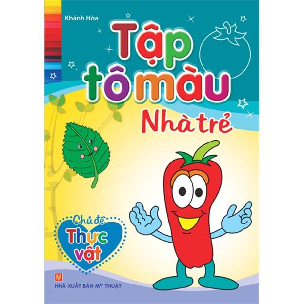 Sách - Tập tô màu Nhà trẻ - Chủ đề Thực vật