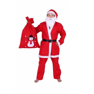 Bộ quần áo Ông già Noel (Có túi size lớn)