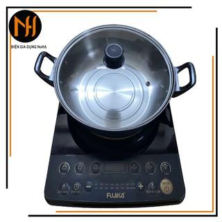 Bếp điện từ phím bấm cơ Fujika BT19, công suất 2000W, hoa văn mẫu ngẫu nhiên-hàng chính hãng